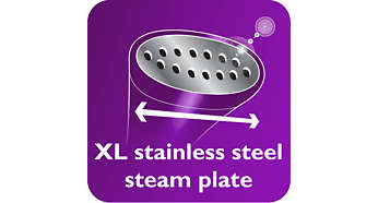 XL Stainless steel steam plate for faster results