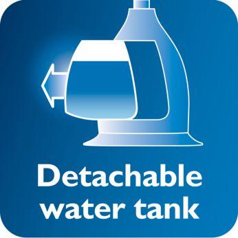Прозрачный съемный резервуар со специальным отверстием для залива воды