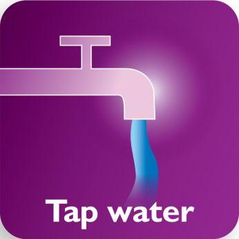 Adecvat pentru apă de la robinet, cu sistemul anticalcar cu acţiune dublă