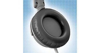 Soft leather ear cushions prolong wearing comfort