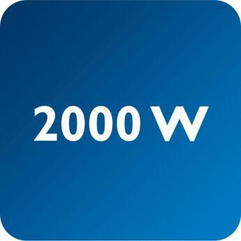 Iki 2000 W galia užtikrina nuolatinį galingos garų srovės tiekimą