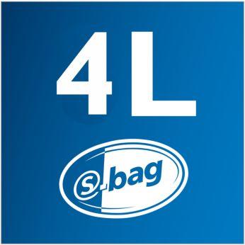 Capacitate sac de praf 4 l pentru o curăţare mai îndelungată