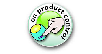 It's easy to change the colour with the on-product control