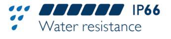 Protección contra el agua y el polvo: IP66