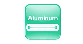 High-quality aluminium housing