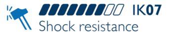 Sólida resistencia a los impactos: IK07