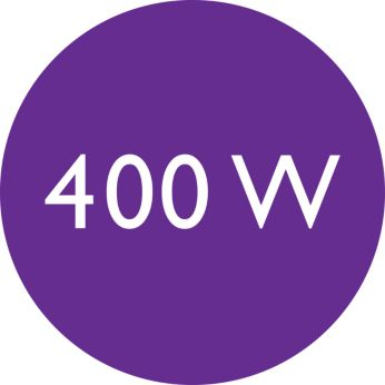 400W for beautiful results