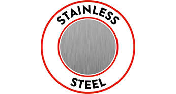 Stainless steel body for long-lasting performance