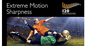 120 Hz PMR for the ultimate in motion sharpness