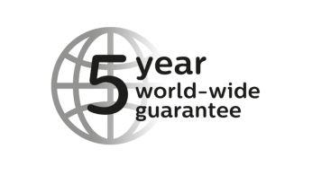 2 metų garantija ir papildoma 3 metų garantija užregistravus gaminį internetu