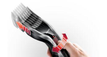 Kolay seçilebilir kilitli 24 farklı uzunluk ayarı: 0,5 - 23 mm