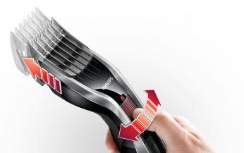 Facile à sélectionner et verrouiller en 24 réglages de longueur: 0,5 à 23mm