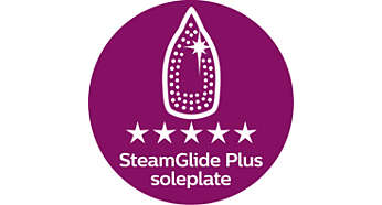 Piastra SteamGlide Plus: mix perfetto tra scorrevolezza e stiratura
