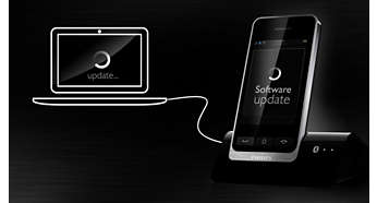 Gratis updates via de Philips Phone Manager