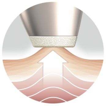 The Air Lift System gently stimulates microcirculation