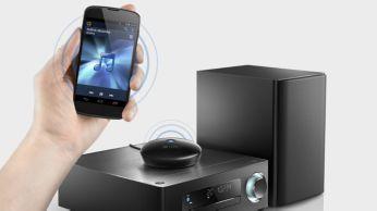 """""""Bluetooth®"""" (aptX® ir AAC) aukštos kokybės belaidis srautinis muzikos perdavimas"""