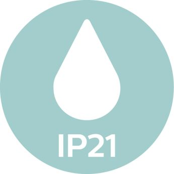 IP21, perfectly suited for your bathroom
