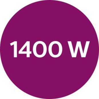 Potência de até 1400 W ativando a saída constante de vapor intenso