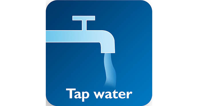 Effective with cold/warm tap water, with/without detergent