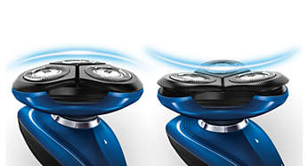 2-way flexing heads adjust easily to the curve