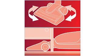 Zorlu bölgeleri temizlemek için maksimum esneklik