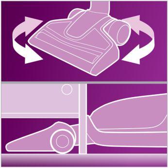 Максимальное удобство уборки даже в самых труднодоступных местах