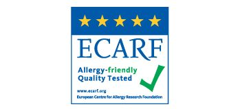 Poate fi utilizat de către persoanele cu alergii, testat pentru calitate de ECARF