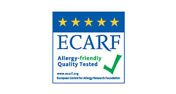 Allergy friendly quality tested by ECARF