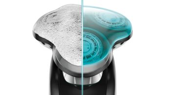 Effectively cleans shavers used with foam and gel