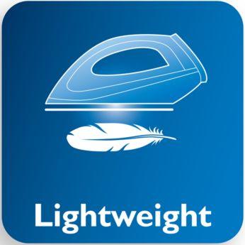 Оптимальный вес обеспечивает легкое перемещение и скольжение прибора по ткани