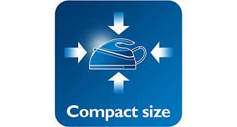 Kolay saklama için kompakt boyutlu ve hafif
