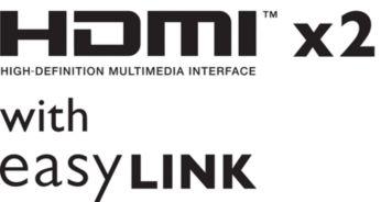 Dos entradas HDMI e EasyLink para una conectividad integrada