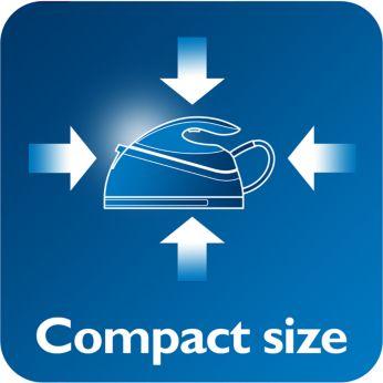 Компактный размер и легкий вес утюга для удобного хранения