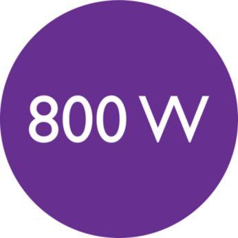 Мощность 800Вт для идеальной укладки