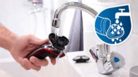 Tümüyle yıkanabilir başlıklı tıraş makinesi
