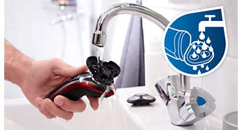 Simply rinses clean