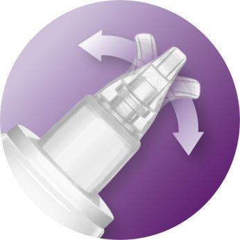 Aspirator do nosa z miękką, elastyczną końcówką