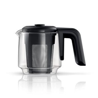 Tüm aileye çay yapmak için 0,9 L Cam çaydanlık