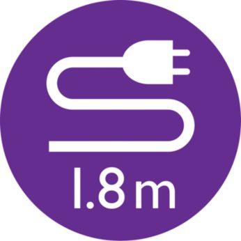 1.8 m cord for maximum flexibility