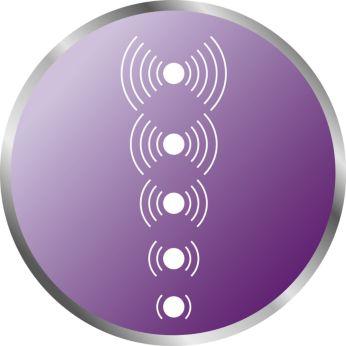 5 wskaźników LED informujących o poziomie dźwięku