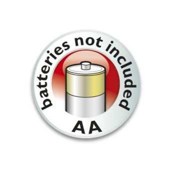 Napájení zbaterií – 3x AA nejsou součástí balení