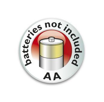 Functionare cu baterie - 3 baterii AA nu sunt incluse
