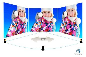 Технология MVA для дисплеев обеспечивает широкий угол обзора и высокий уровень контрастности