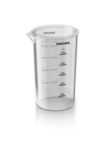 Beaker 600ml. For blending, whisking, mixing.