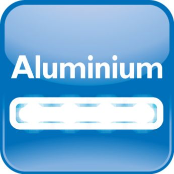 High-quality aluminium housing