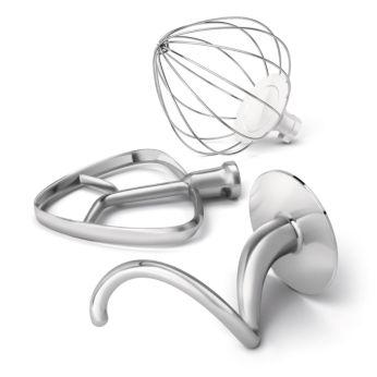 Spirală metalică pentru aluat, tel şi paletă, concepute pentru performanţă