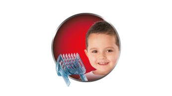 Includes a kids comb with 12 adjustable lengths: 1-23mm