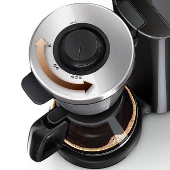 Stabileşte tăria, de la o cafea slabă la o cafea tare