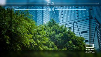 UltraWide QHD 3440 x 1440 piksel ile CrystalClear görüntüler
