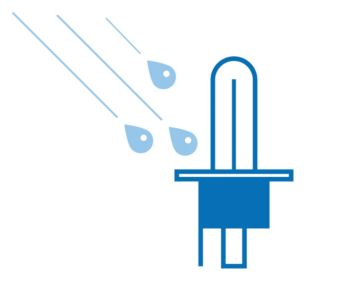 As lâmpadas automotivas da Philips são resistentes à umidade*